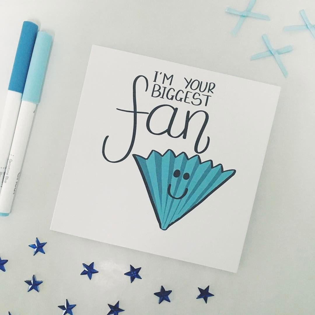 biggest fan fan girl fanboy cute card funny card pun punny greetings card boyfriend girlfriend etsy