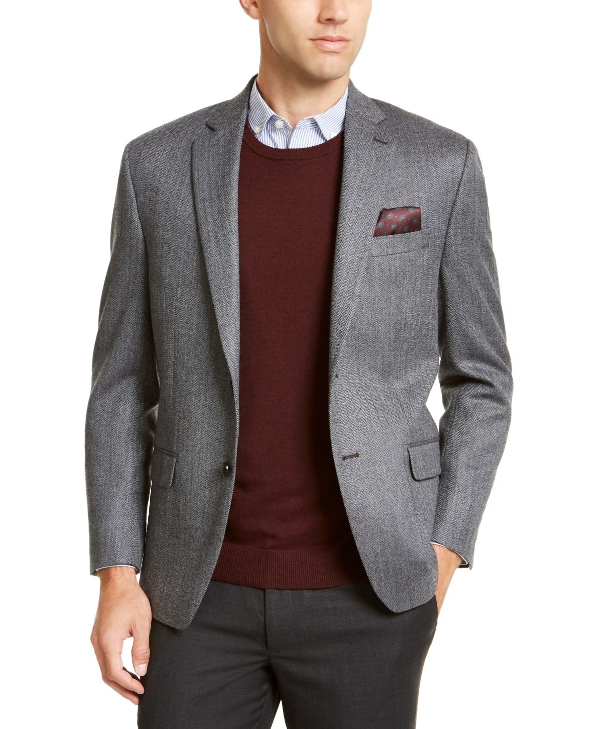 EX M/&S COLLECTION PERFORMANCE WOOL BLEND SINGLE BREASTED JACKET BLAZER REGULAR