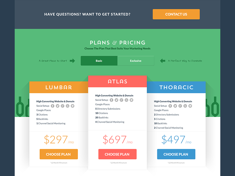 By On Dribbbleboard Web Design Pricing Table Web Design Inspiration