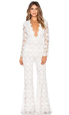 8028ca1e4fb STONE COLD FOX Saint Jumpsuit in White
