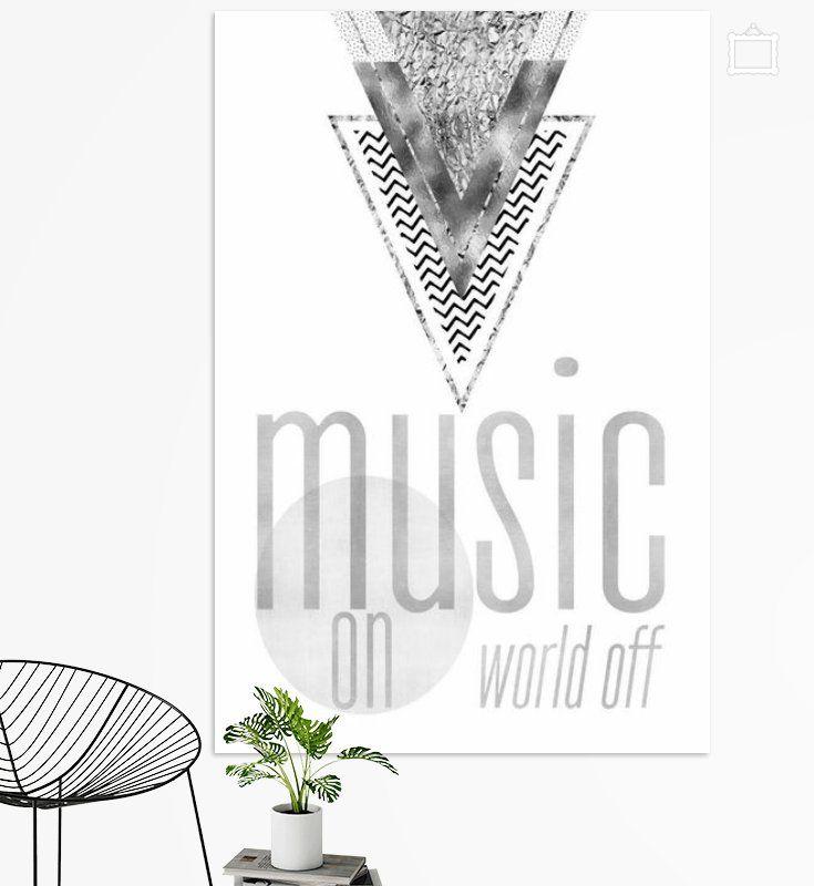 Graphic Art Music On World Off Silber Poster Melanie