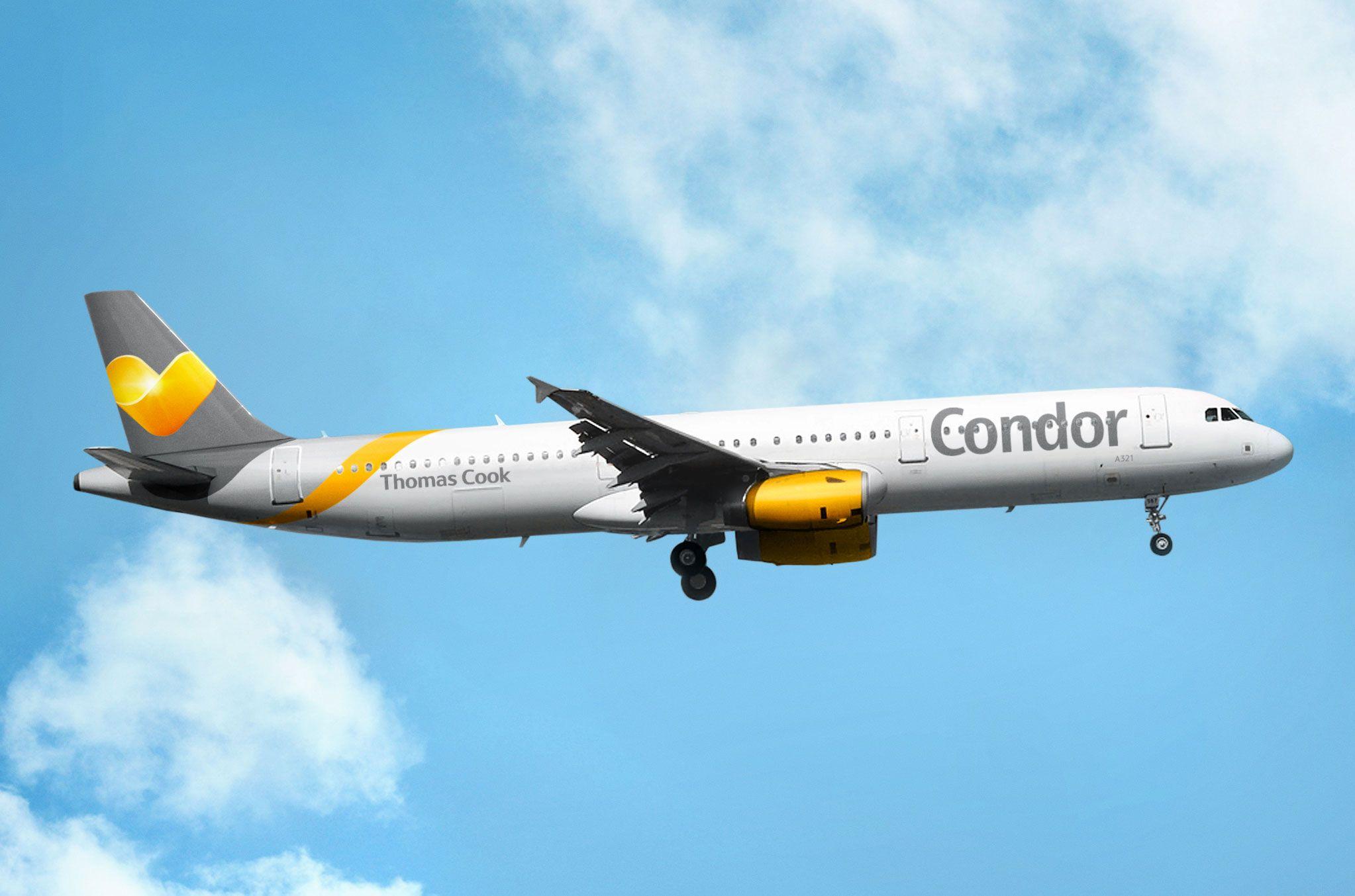 Der Condor A321 im Sunny Heart-Design.  Download und weitere Bilder unter: http://www.condor.com/de/unternehmen/condor-newsroom/download.jsp