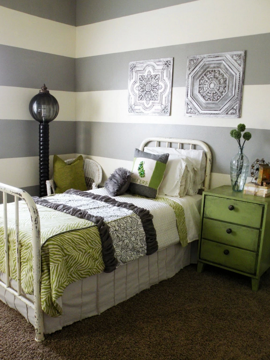 Best Green And Gray Bedroom Gray And Green Cottage 400 x 300