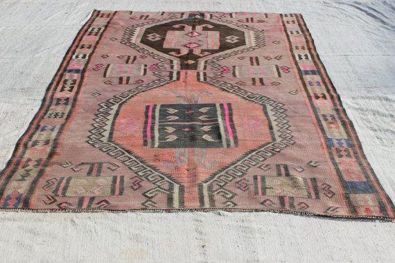 "Pastel Kilim Rug, 9.3""x5.7""FEET,280x170 cm,Decrative Rug,Ethnic Kilim Rug,Vintage Home Decor,Nomadic Woven Kilim Rug"