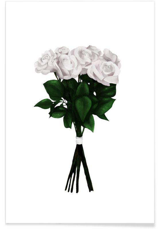 white bouquet als premium poster von peytil juniqe wohnung m nster pinterest bilder. Black Bedroom Furniture Sets. Home Design Ideas