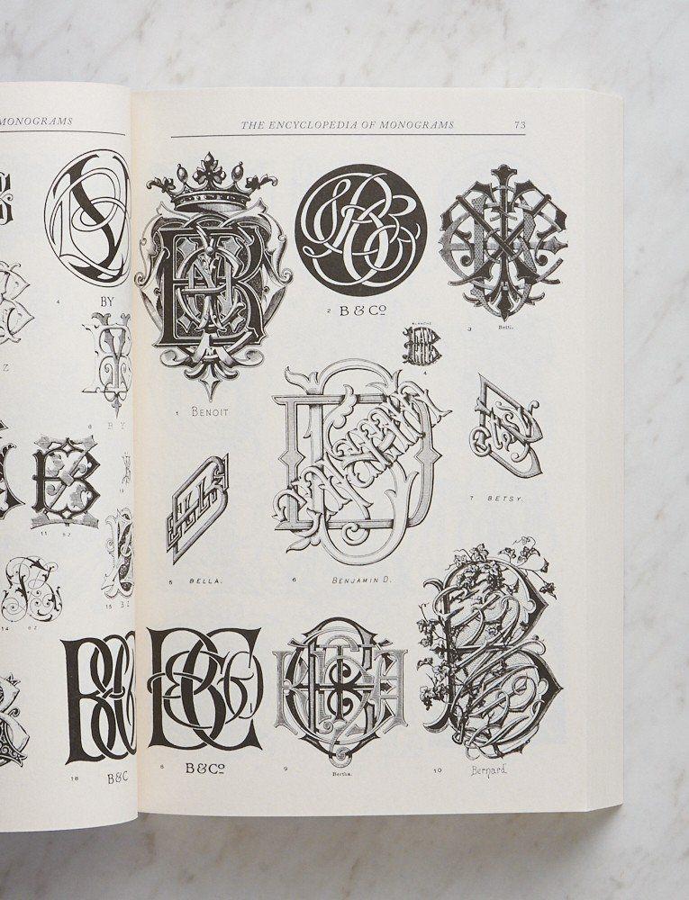 The Encyclopedia Of Monograms Leonard G Lee Monogram Embroidery Kits Engraved Initials