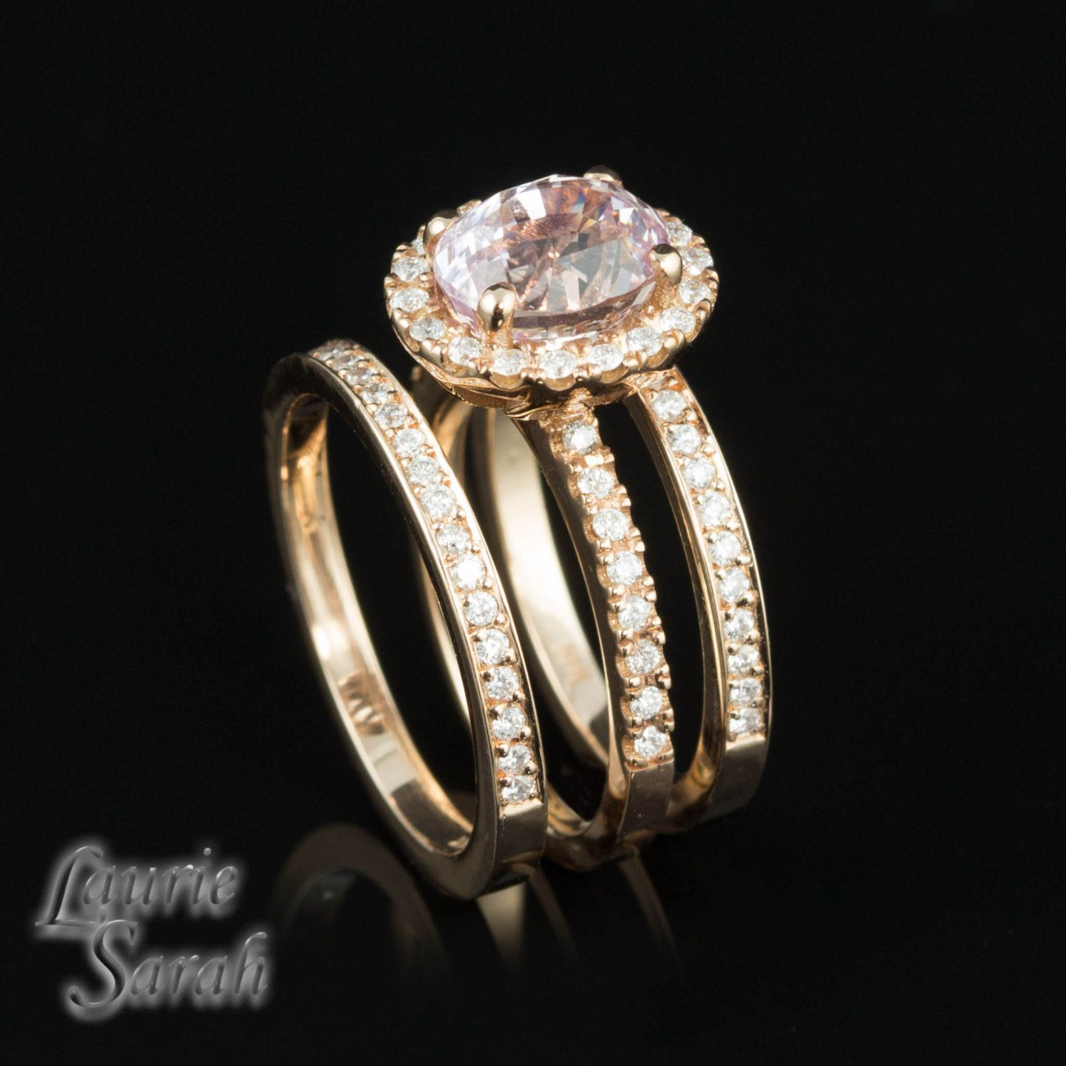 What wedding dress is best for my body type  Oval Pink Sapphire Ring with Two Diamond by LaurieSarahDesigns