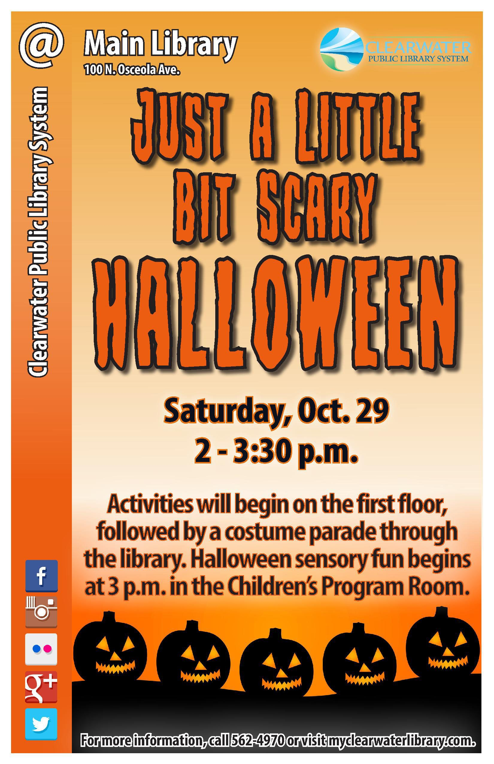 Halloween stories, crafts, sensory activities and a costume