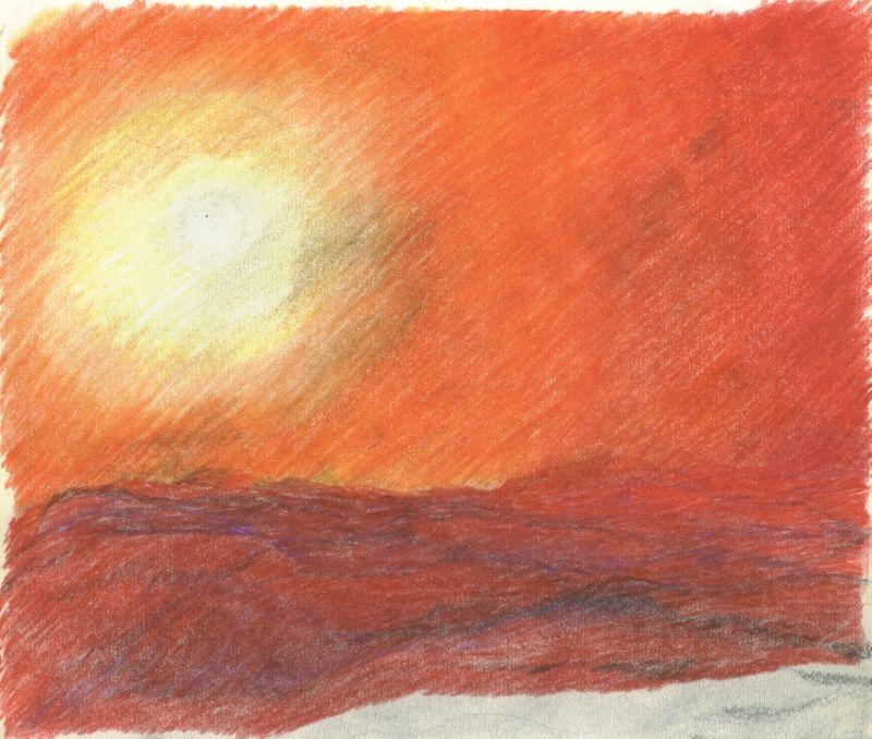 colored pencils THE SUN