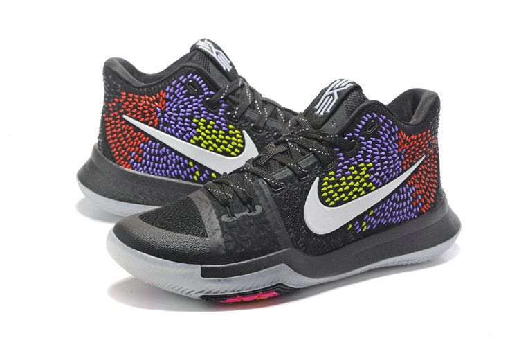 New Arrival Cheap Nike Kyrie 3 PE colorful Black Purple Red Multi Color