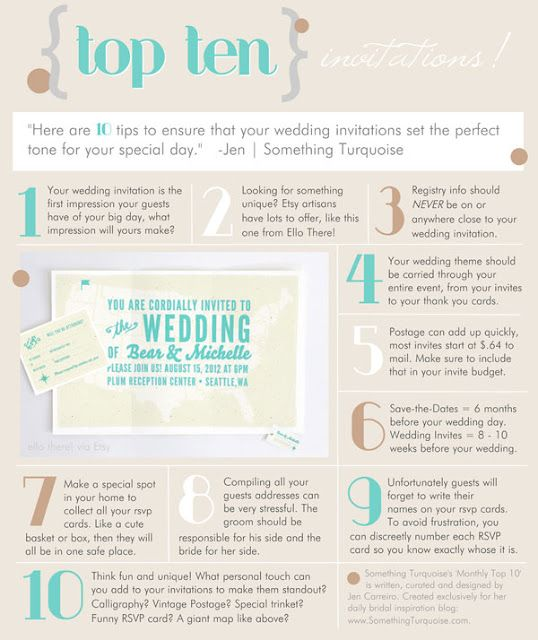 Top 10 Invitation Tips