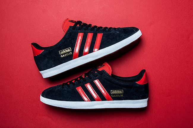 ADIDAS GAZELLE OG (BLACKRED) | Sneaker Freaker | Adidas