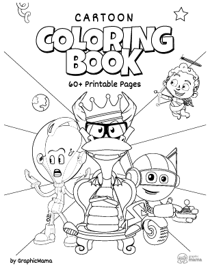 Cartoon Coloring Book: 60+ Free Printable Pages PDF by