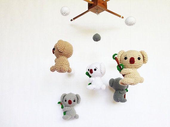 Amigurumi Sheep Baby Mobile : Baby mobile amigurumi cute koalas mobile koala by ivorytreehouse