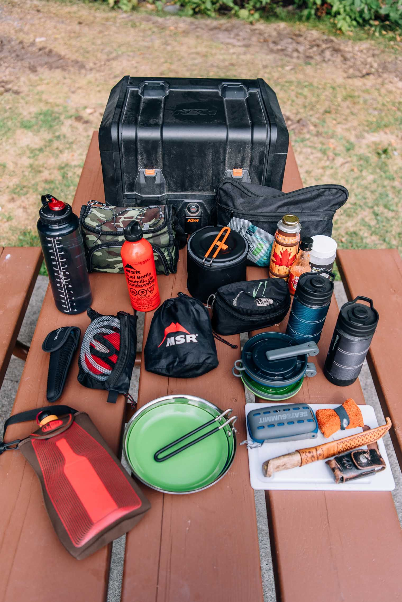 Eating Well On Two Wheels Motorcycle Camping Cooking Gear