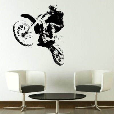 SCRAMBLER dirtbike motorbike kids bedroom wall art stickers ...