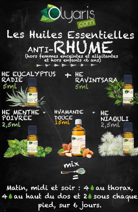 Huiles essentielles contre le rhume - Olyaris