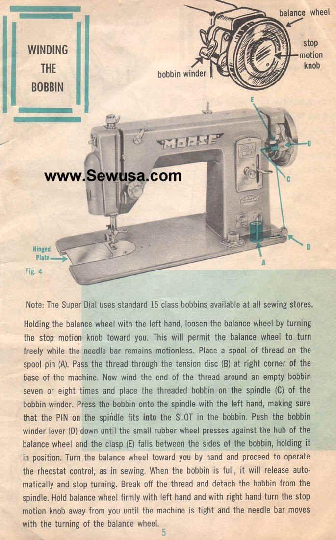 Heavy Duty Singer Sewing Machine Bobbin Case Diagram