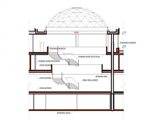 Skylight Glass Dome Roof