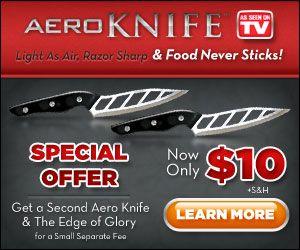 Aero Knife Lightweight Razor Sharp And Non Stick Best Kitchen Set Knives See On Tv