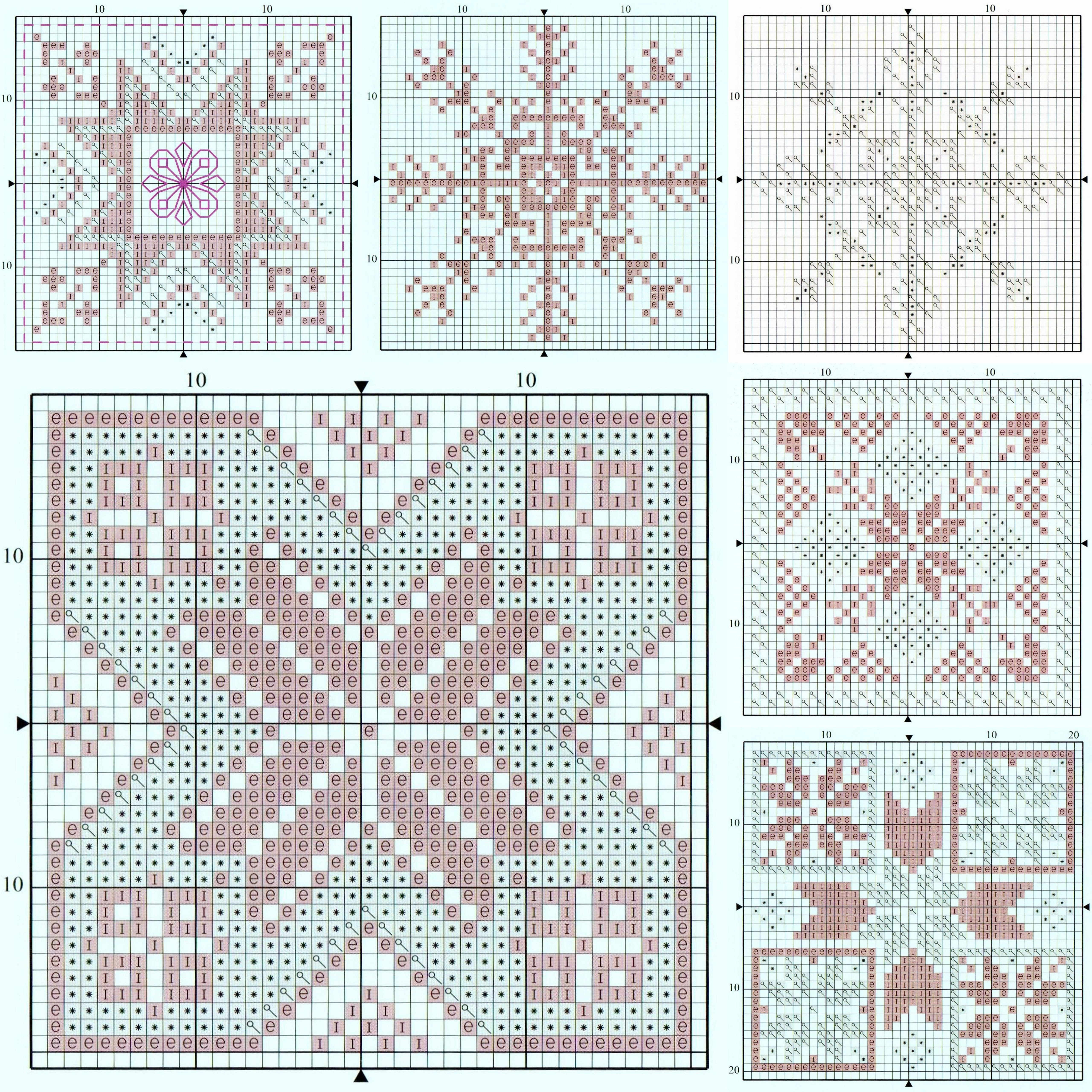 Charts for six modern snowflake christmas card designs from a free charts for six modern snowflake christmas card designs from a free booklet which came with issue nvjuhfo Images