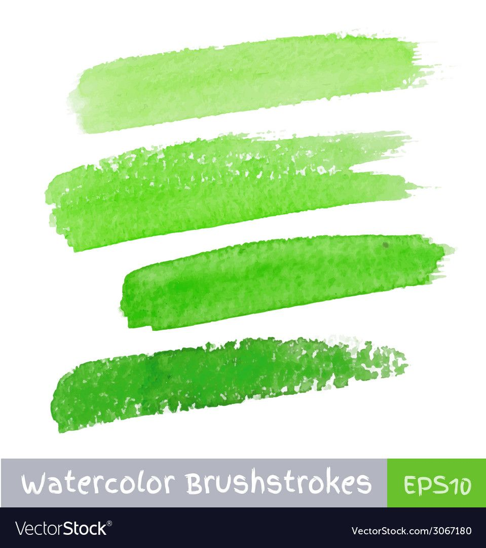Green Watercolor Brush Strokes For Your Design Download A Free