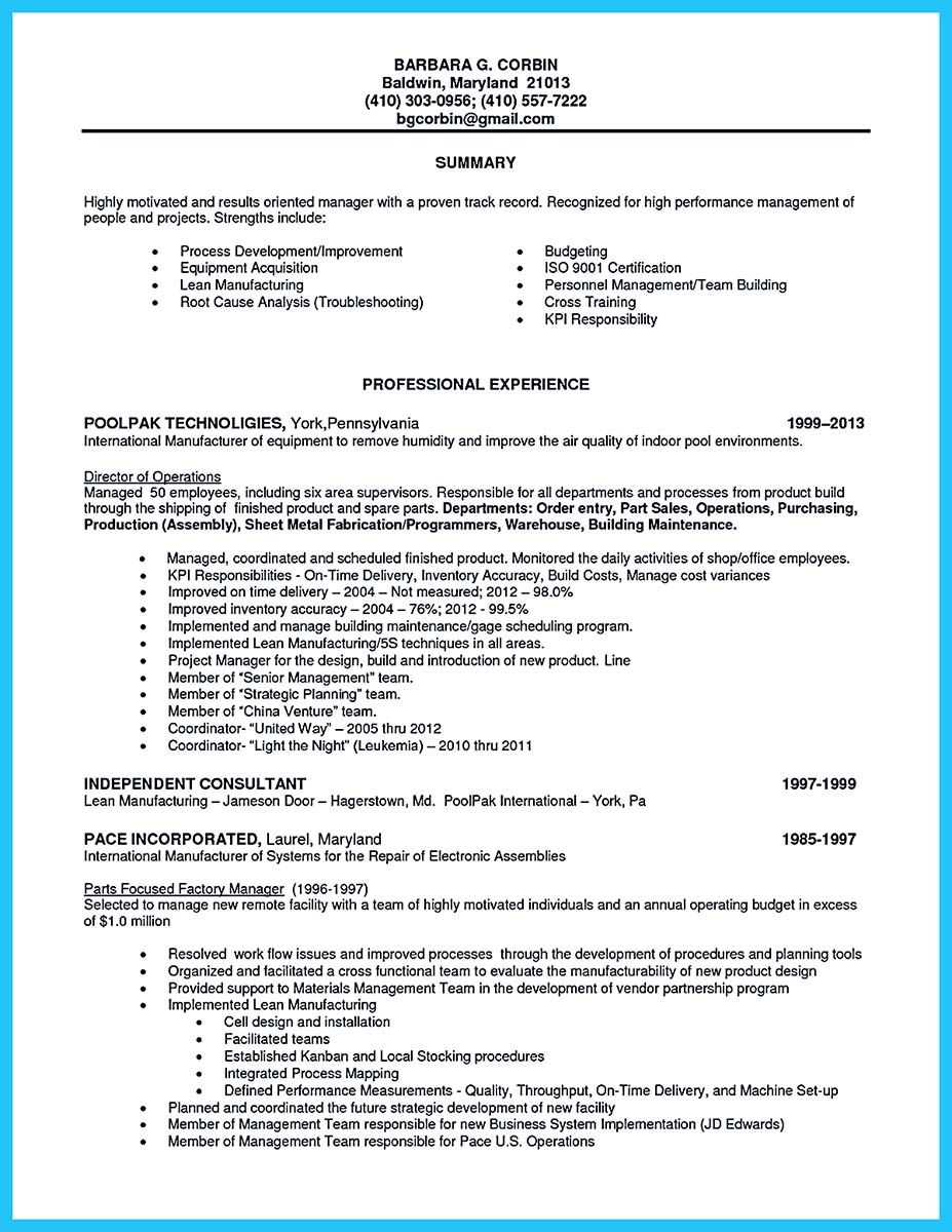 Professional Assembly Line Worker Resume To Make You Stand Out Line Worker Job Resume Samples Good Resume Examples