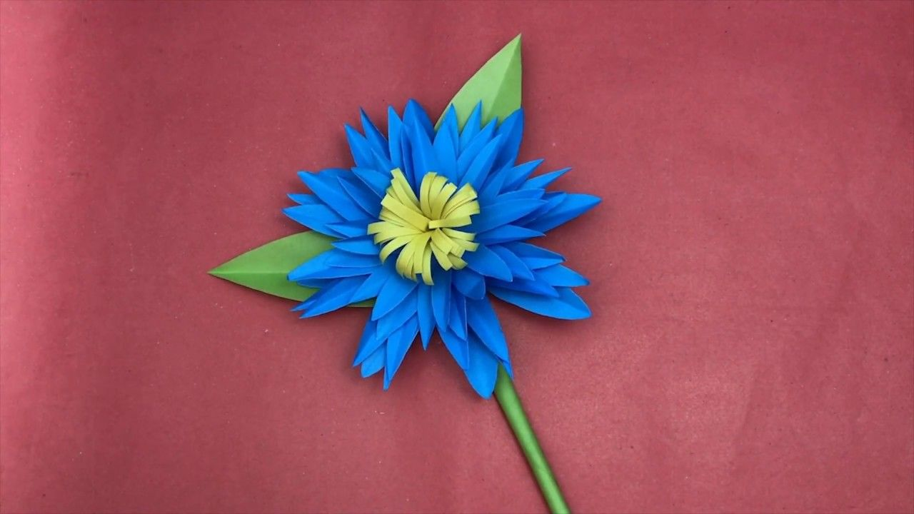 How To Make Dahlia Flower With Paper Hifi Craft How To Make Flower