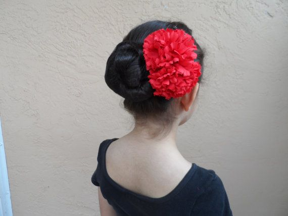 Give Your Lady A Nice Spanish Carnation Barrette Some Fiery Red Earrings Or Even A Fan To Go With Her Carmen Ticket Spanish Costume Flamenco Carnation Flower