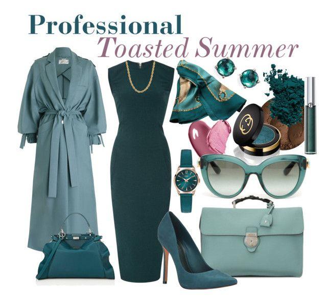 Professional: Toasted Soft Summer by prettyyourworld on Polyvore featuring Rick Owens, Zimmermann, Schutz, Fendi, Gucci, Ippolita, Henry London, Hermès, Dolce&Gabbana and Clé de Peau Beauté