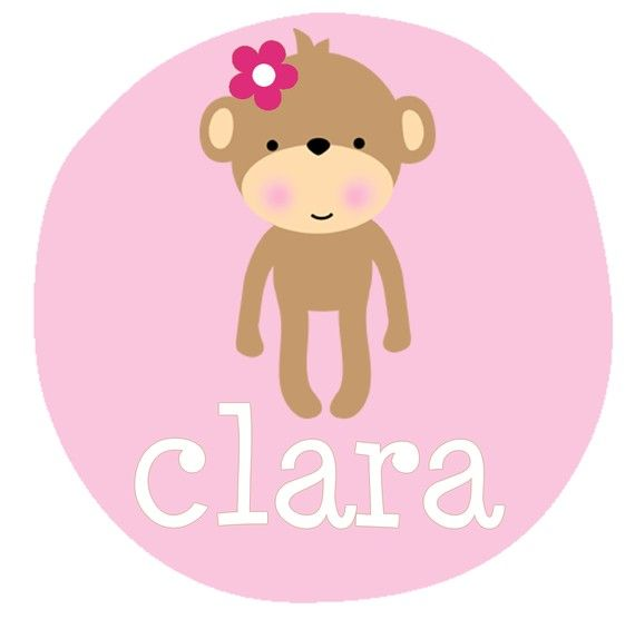 Personalized ADORABLE MONKEY For a Boy or a Girl - Baby Bodysuit or Toddler Tee on Etsy, $20.00
