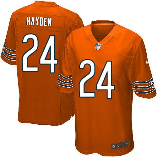 Nike Chicago Bears Kelvin Hayden Elite Jersey Youth Orange #24 Alternate NFL Jerseys Sale