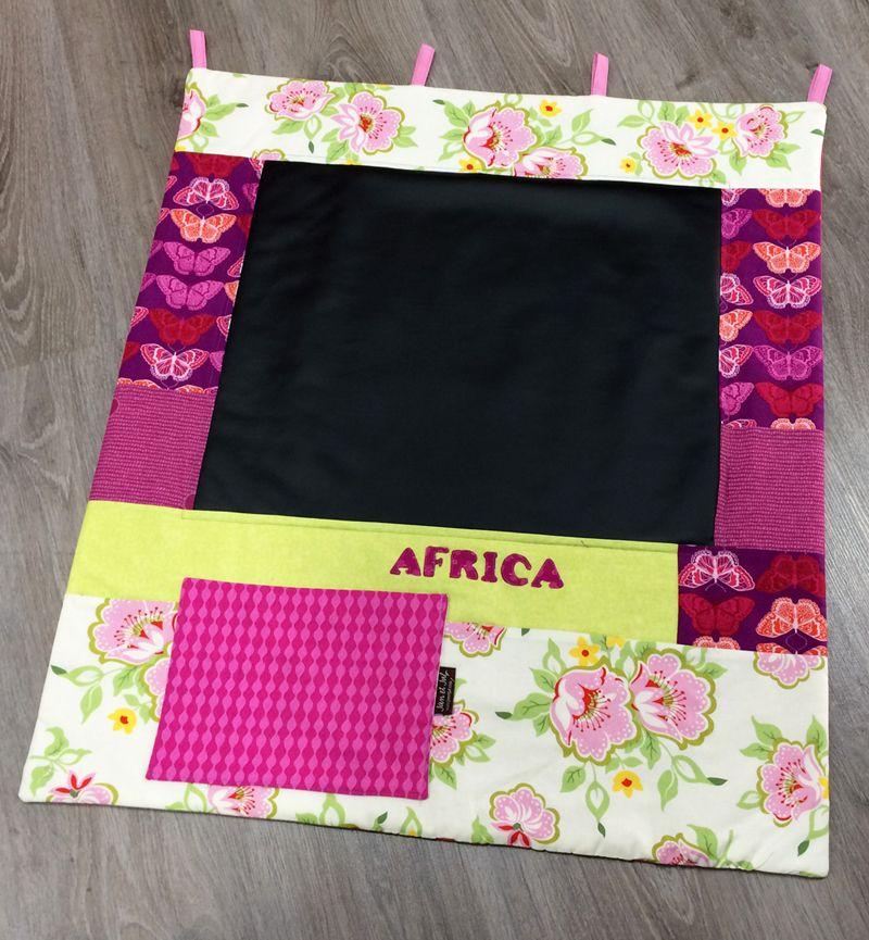 Pizarra de pared para una niña llamada África  :-D