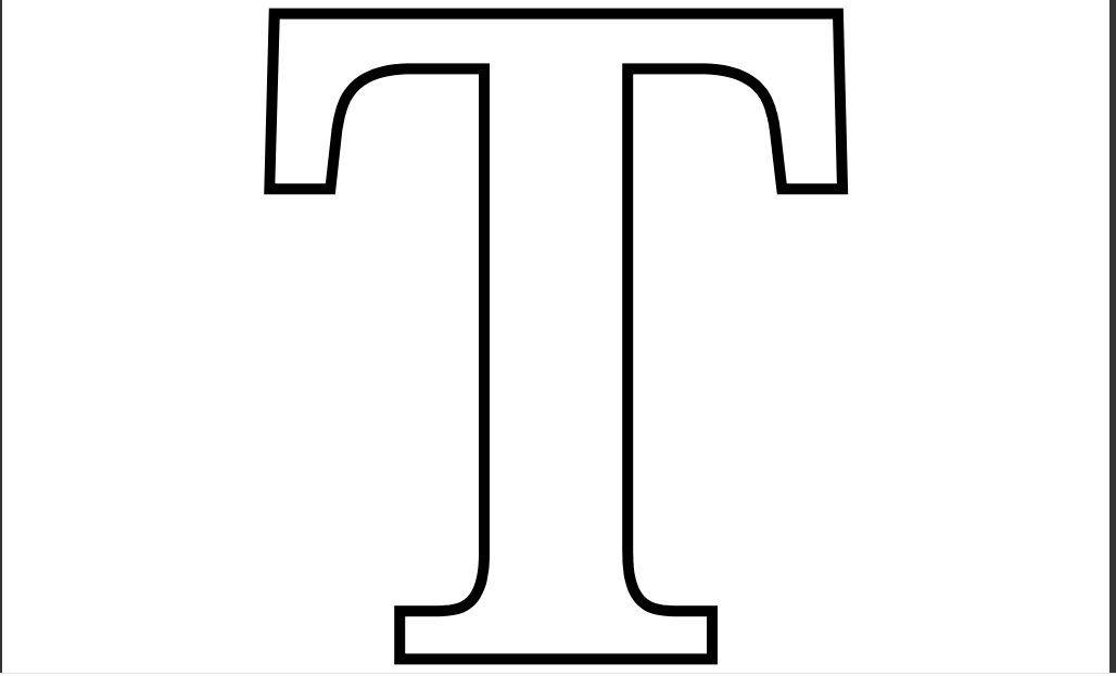 Imprimir Letra T Para Recortar Colorear Letters Pinterest Letter T Coloring Page Pdf