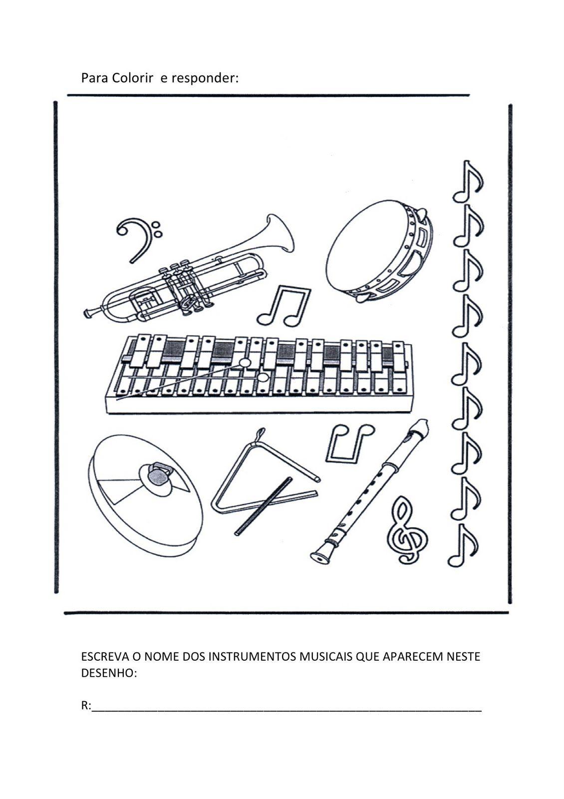 Resultado De Imagem Para Musica Para Colorir Educacao Musical