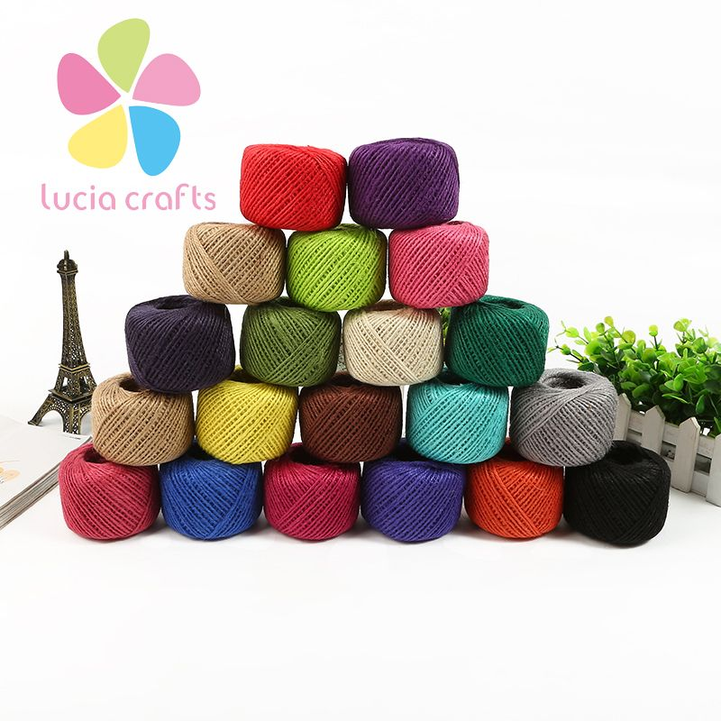 Jute Rope 2 mm Thin Twisted Jute Rope String Cord Christmas Handmade Crafts