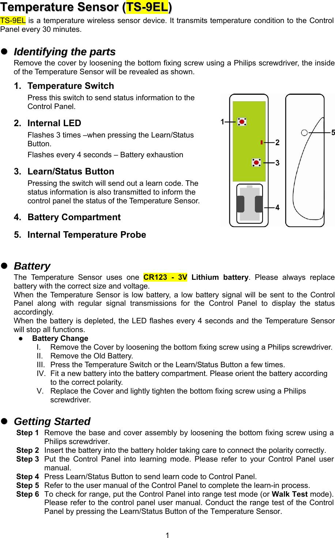 Ts9 Users Manual Ts 9el 20171125 User Manual Climax Manual