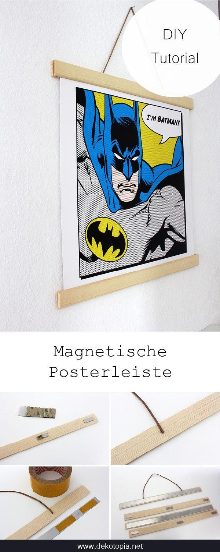 In Szene gesetzt: Magnetische Posterleiste | Crafts, Diy wall art ...