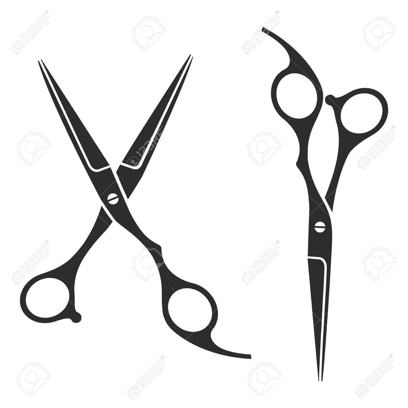 37044062 Vintage Barber Shop Scissors Logo Label Badge Stock Photo Jpg 1300 1300 Hairdresser Tattoos Scissors Tattoo Barber Tattoo