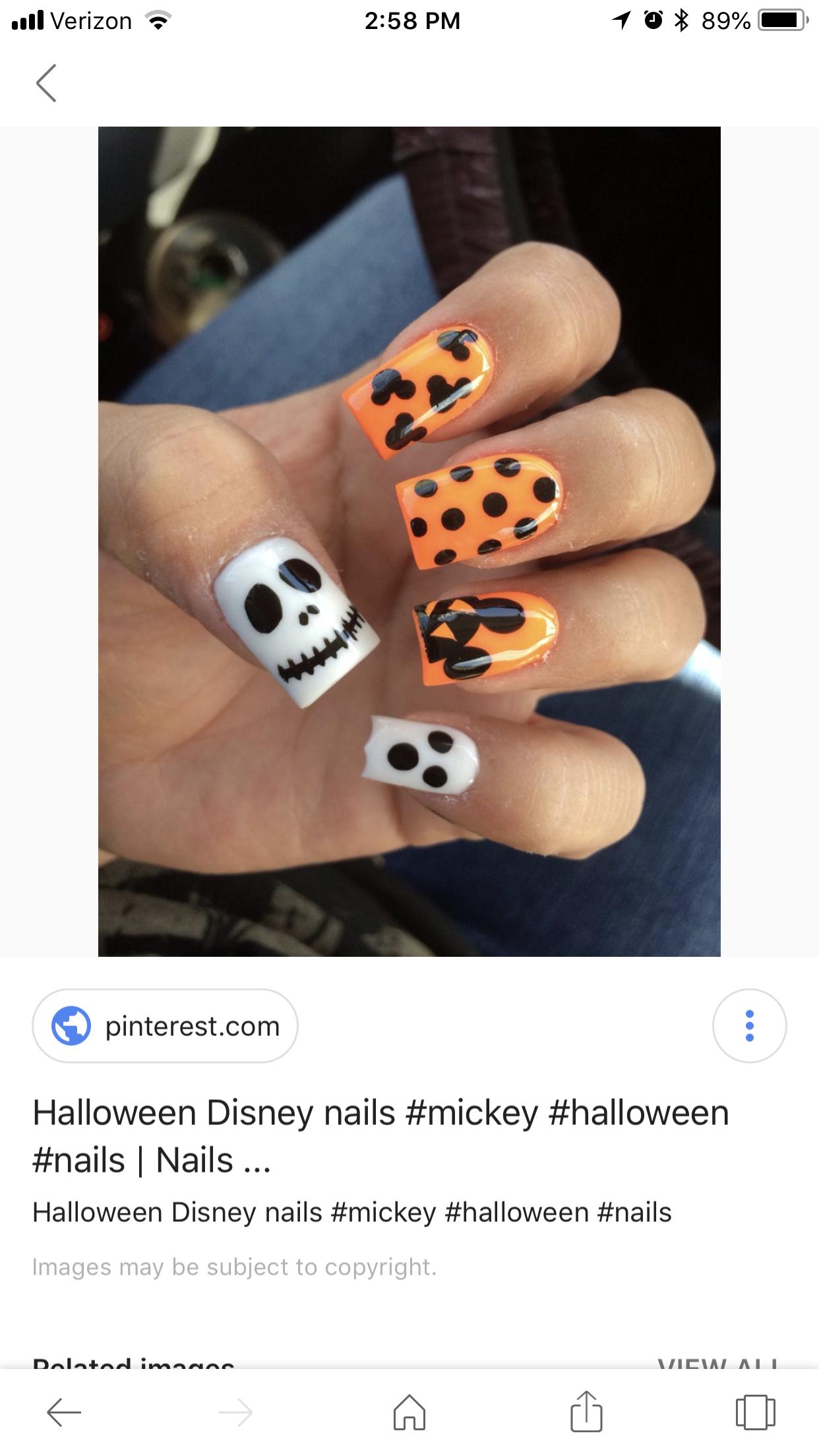 Disney Halloween Nails Disney Nails Disney Halloween Nails Disney World Nails
