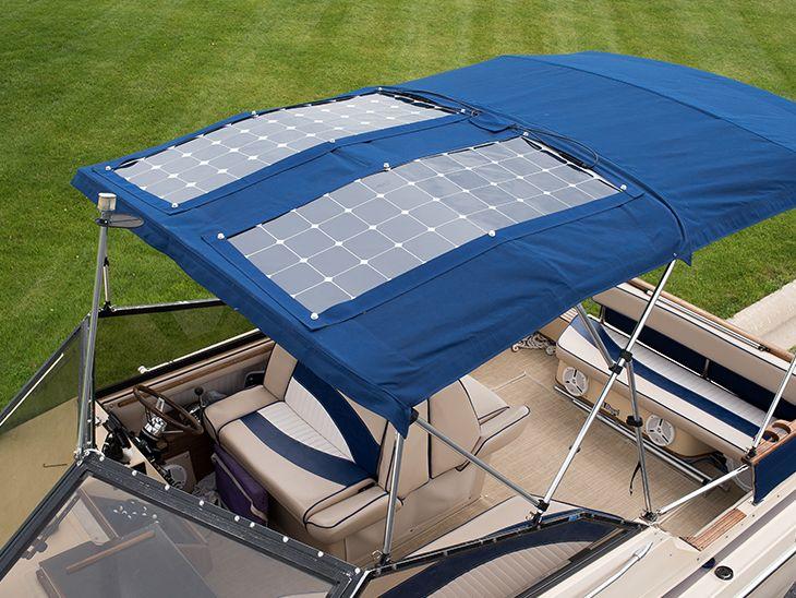 How To Install Solar Panels On A Bimini Flexible Solar Panels Solar Panel Installation Solar Panels