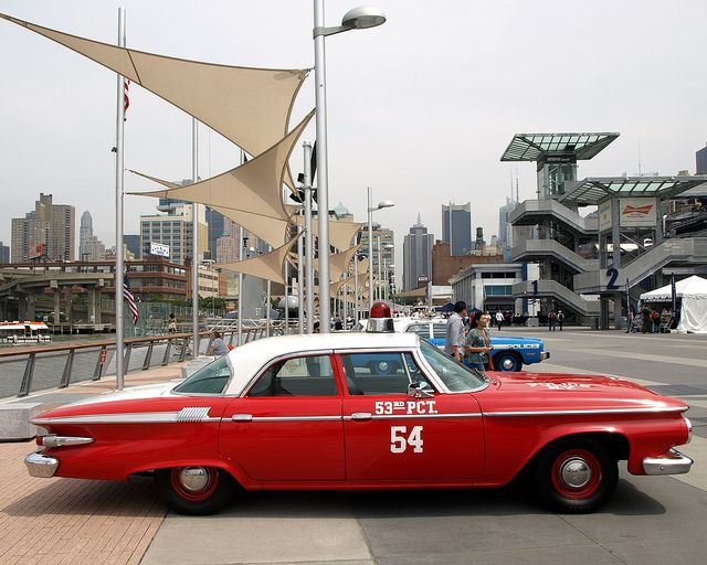 Vintage nypd 1961 plymouth police car new york city for Motor city towing dearborn