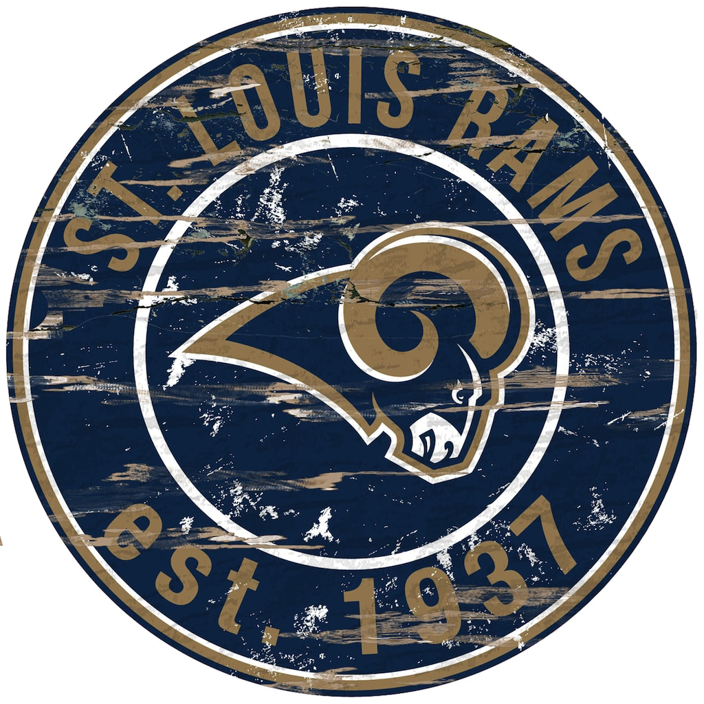 "St. Louis Rams Distressed 24"""" x 24"""" Round Wall Art"