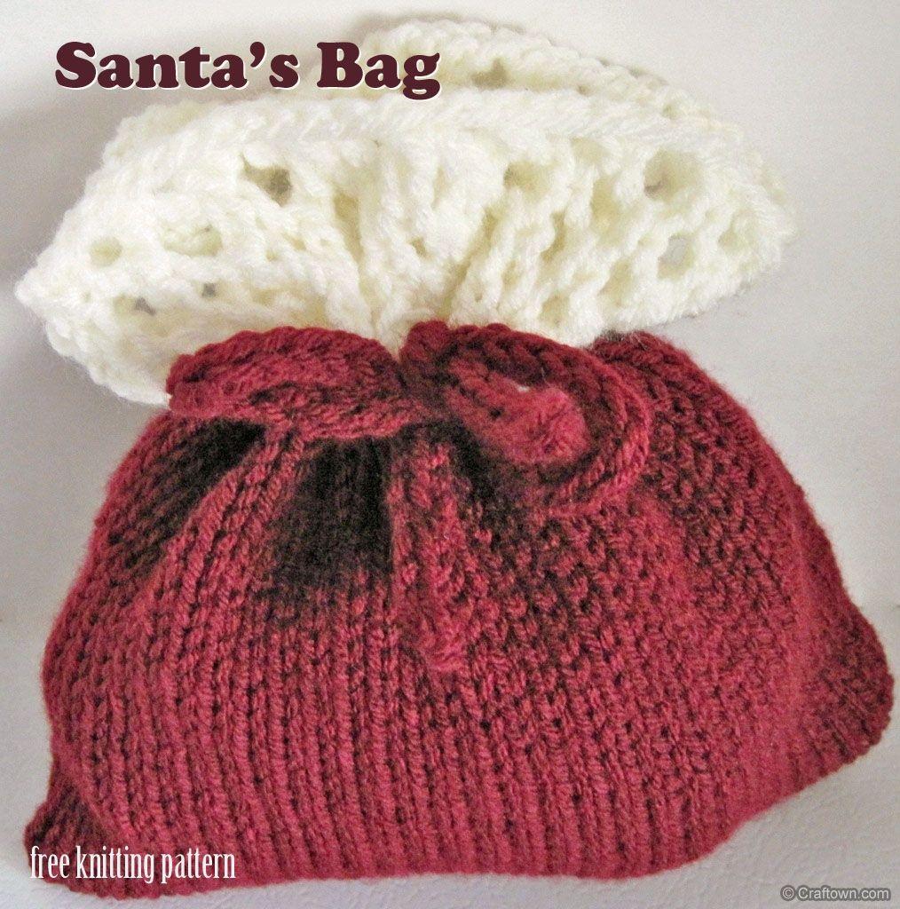 Free Knitting Pattern Christmas Gift Bags Knitting Bag Pattern Knitting Gift Christmas Knitting Patterns Free