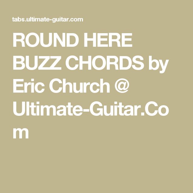 Fancy Guitar Chords For Eric Church Composition - Basic Guitar ...