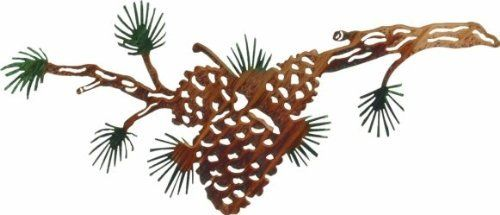 Pine Cone Metal Wall Art Decor