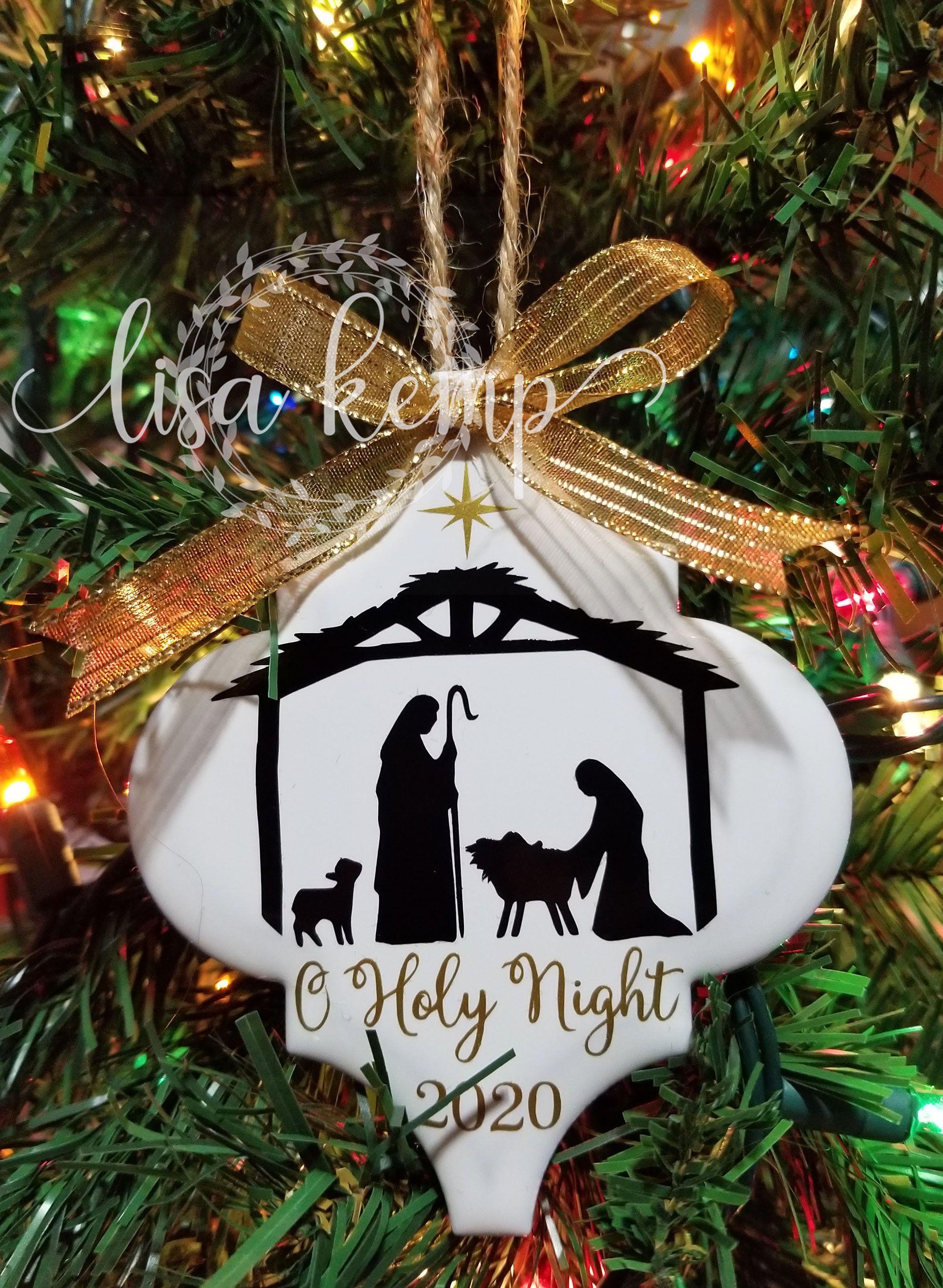O Holy Night Nativity Scene Ceramic Lantern Tile Ornament In 2020 Christmas Ornaments Diy Christmas Ornaments Christmas Tree Ornaments