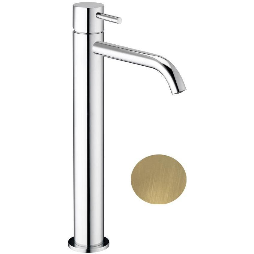 Knob Single Lever Handle Bathroom Vessel Filler Tall Lavatory Basin