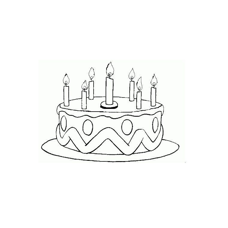 coloriage gteau anniversaire 7 ans - Dessin Sur Gateau