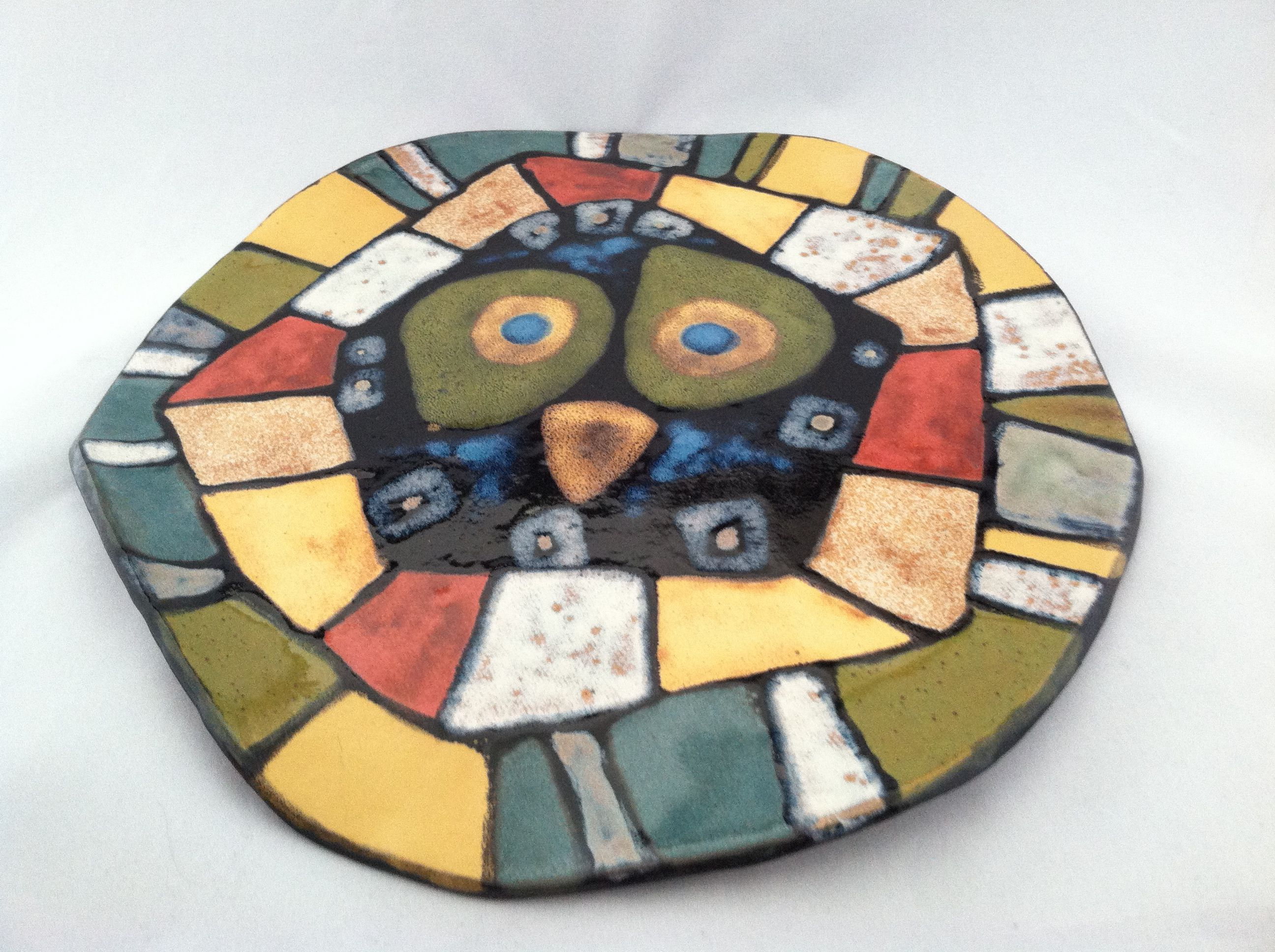 "Astrid Nordness - ceramic artist "" chicken might cheese plate."""